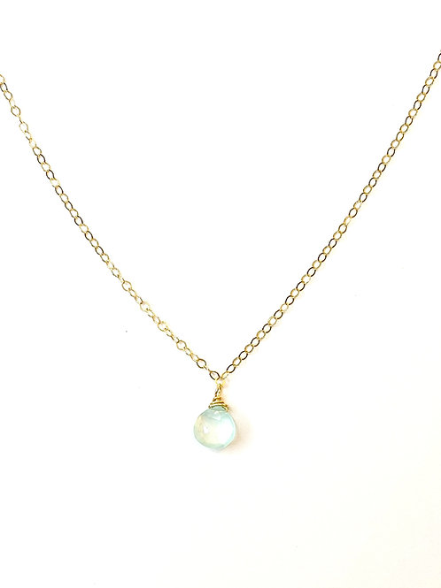 Chalcedony on Gold