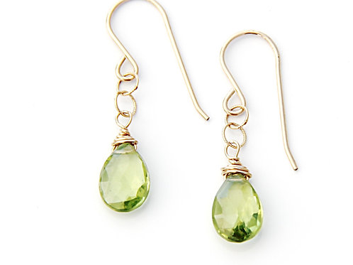 Peridot Gold Earrings