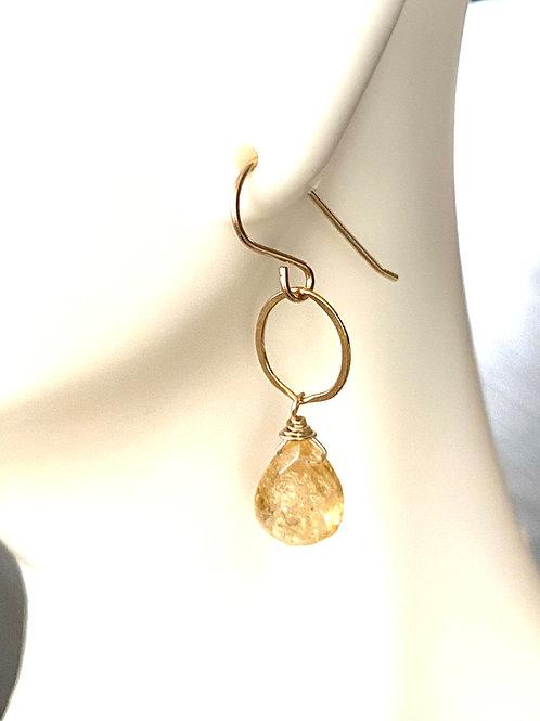 Imperial Topaz Earrings on Gold
