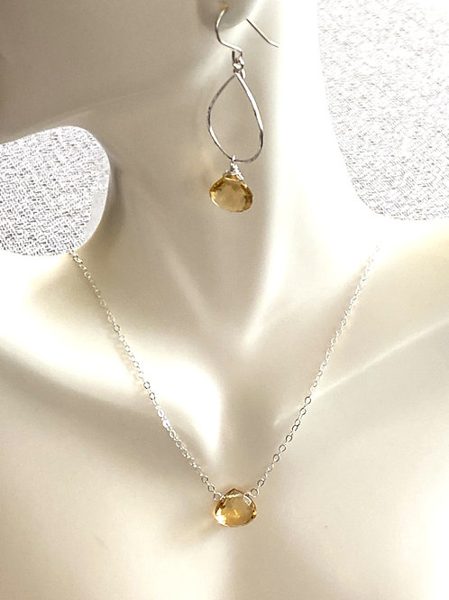 Yellow Topaz Set on Sterling