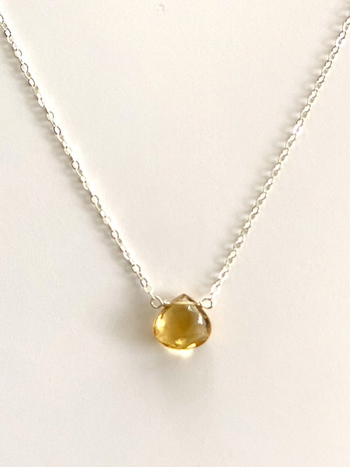 Yellow Topaz Necklace on Sterling