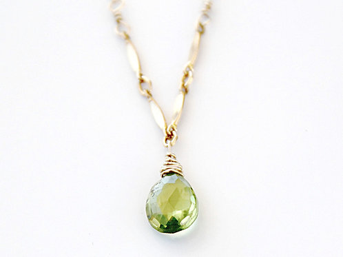 Peridot Gold Necklace