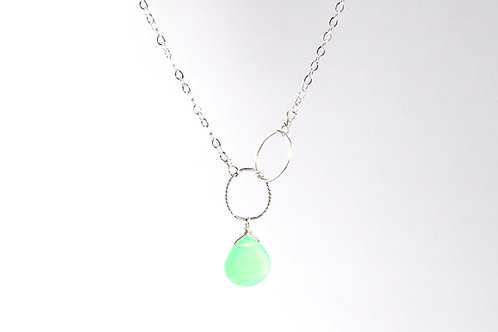 Chrysoprase Silver Necklace