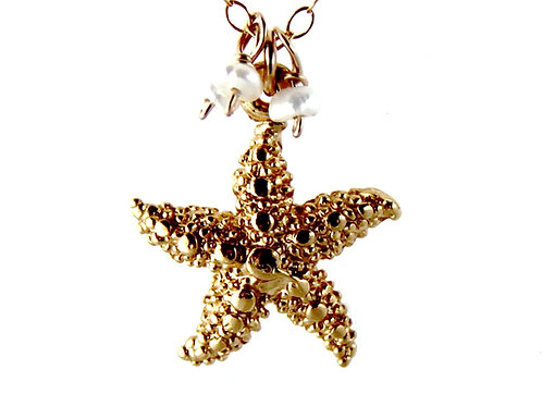 Starfish with Fresh Water Pearls