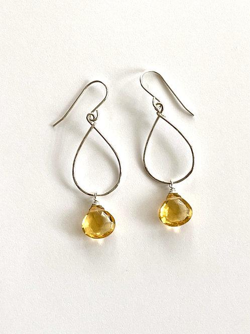 Yellow Topaz Earrings on Sterling