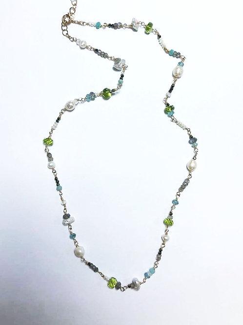 Amazonite, Labradorite, Pearl, Pyrite, Apatite