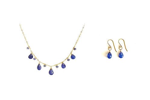 Tanzanite set with Necklace and Earrings