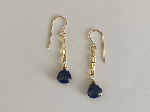 8mm sapphire drops in 14kt gold fill