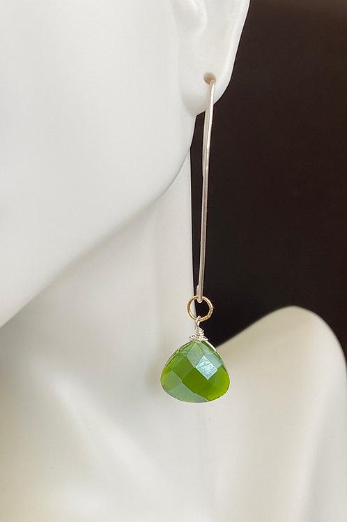 Crystal drop on sterling silver earrings
