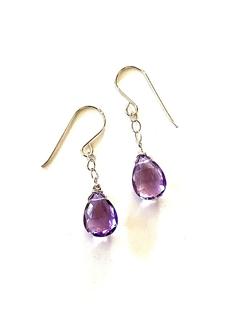 Pink Amethyst on Sterling Silver