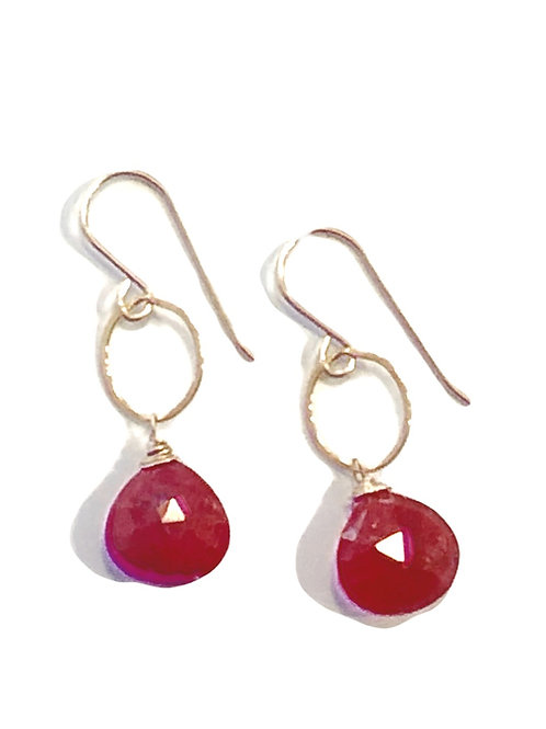 Ruby Earrings in 14kt GF