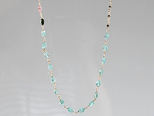 Gold Apatite, Tourmaline, & Pyrite Necklace