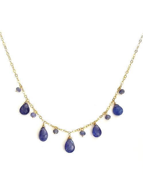 Tanzanite Necklace on Gold