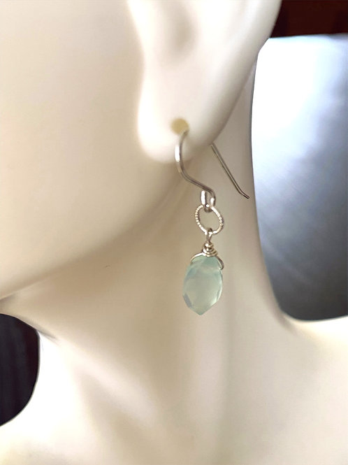 Chalcedony Marquis Cut on Sterling Silver