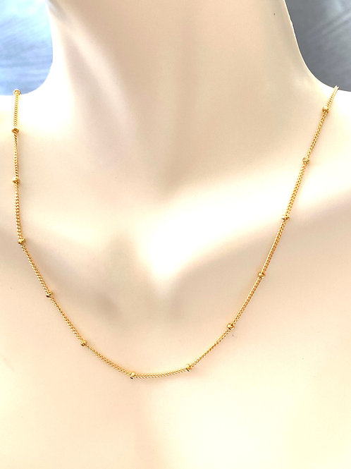 """18"""" Beautiful 14kt gold fill chain with beaded detail"""