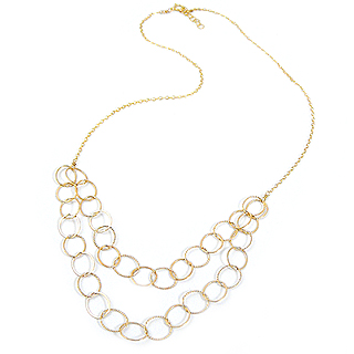 14k Gold-Fill Double Chain Link Necklace