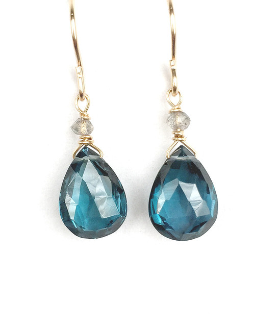 London Blue Topaz Briolette Earrings