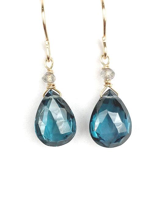 London Blue Topaz Briolette Earrings