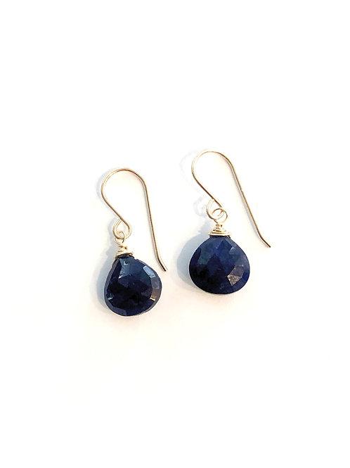 Sapphire Gold Earrings