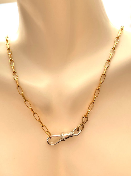 Elegant Gold Chain with Sterling Silver Swivel Clasp