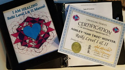 Reiki certificate and manual