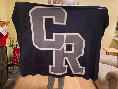 CR Sherpa Plush Throw Blanket