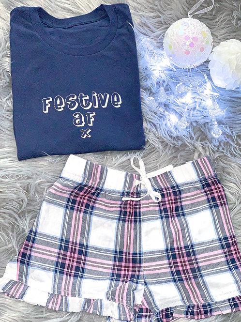 Festive AF - Tee/Short Pjs