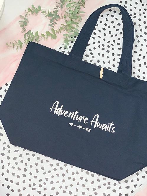 Adventure Awaits - XL Canvas Bag