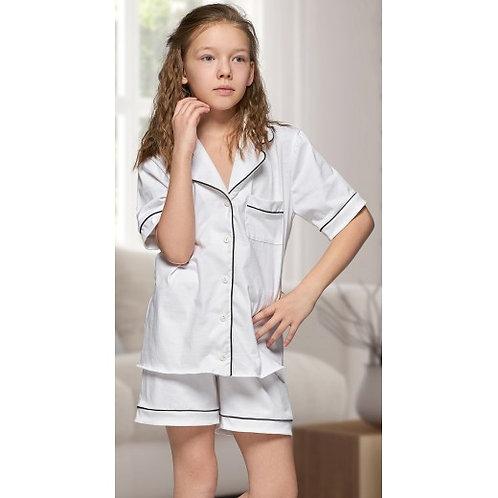 White Short Cotton PJ's