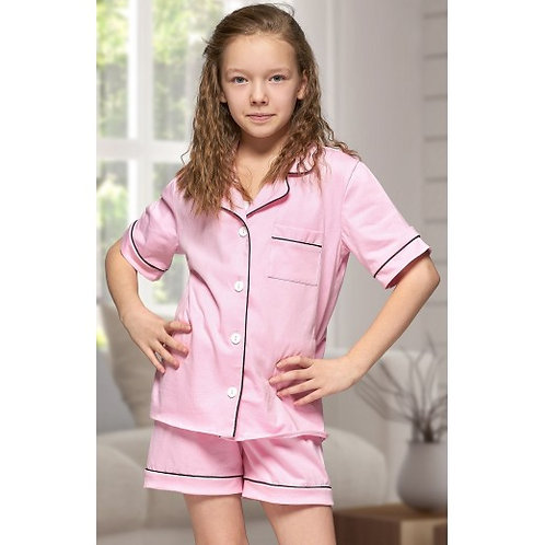 Baby Pink Short Cotton PJ's