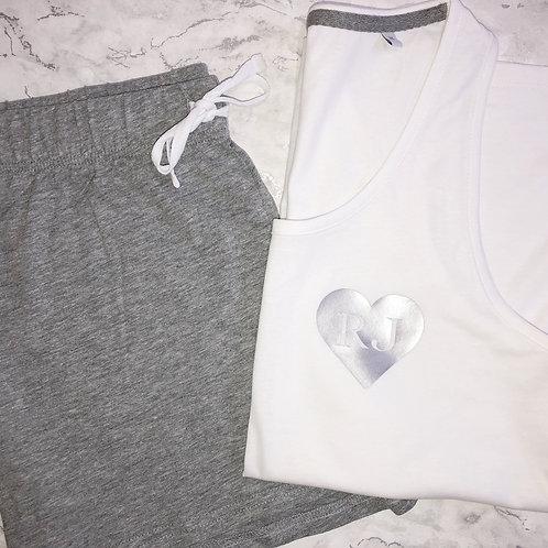 Heart Initial - Short Pyjamas