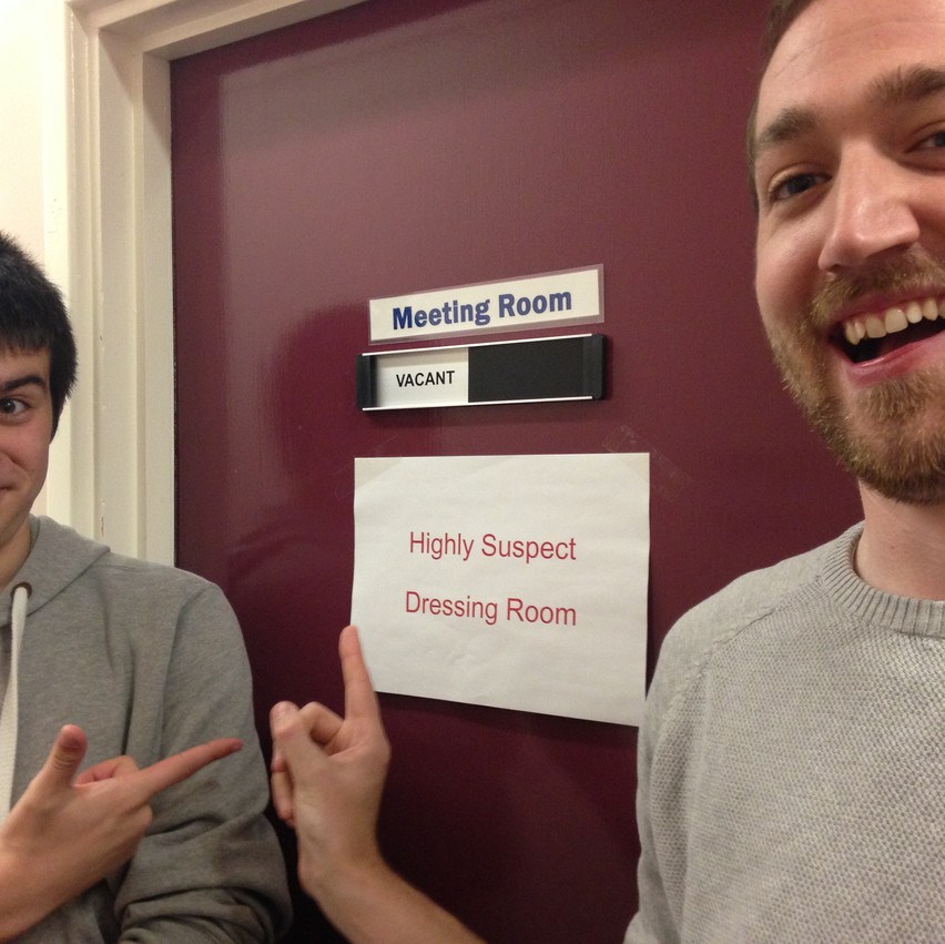 We felt like celebrity murderers in Whitehaven library - look we even had our own named dressing room!