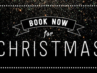 Christmas Bookings 2017!