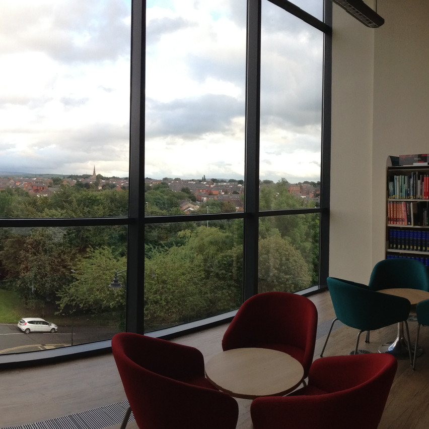 What a view to murder against! (Oldham Library)