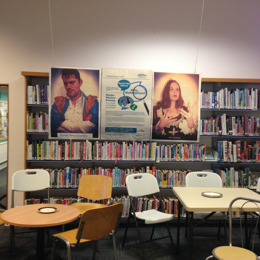 Whitehaven Library also wins many points for its fabulous decorations