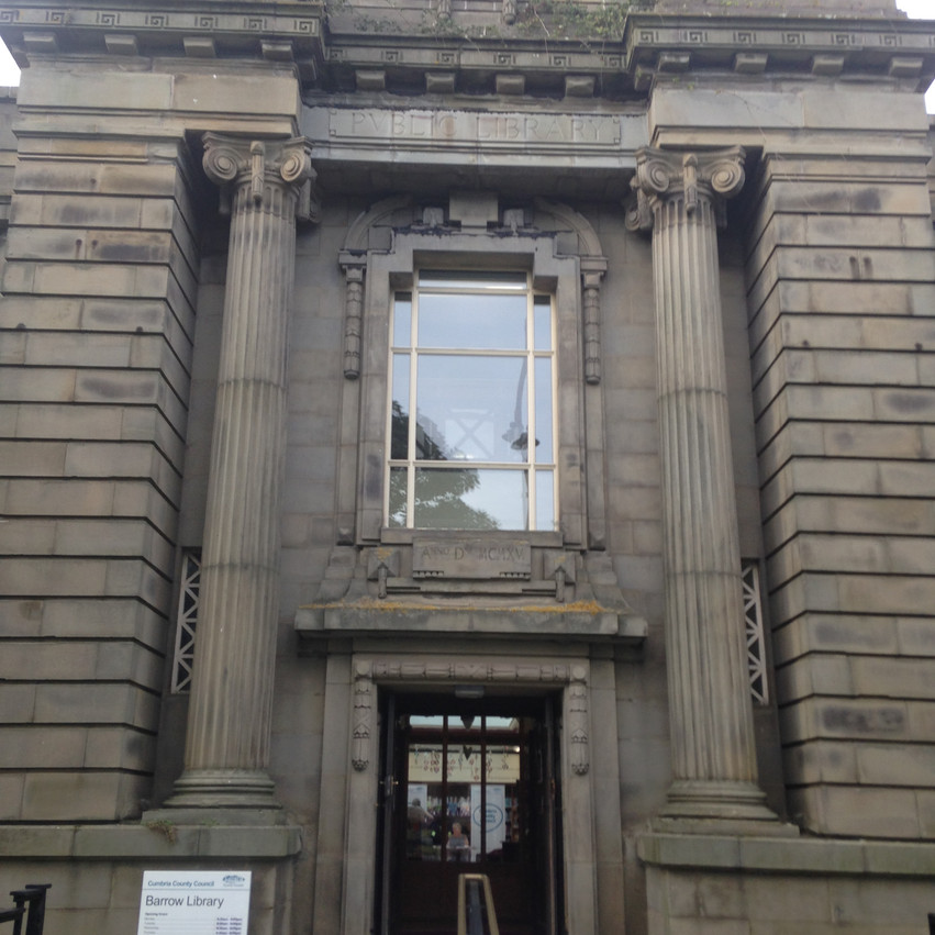 A grand venue for a bit of death (Barrow Library)