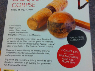 We are loving the leaflets for The Curious Croquet Corpse! Only 3 weeks to go......