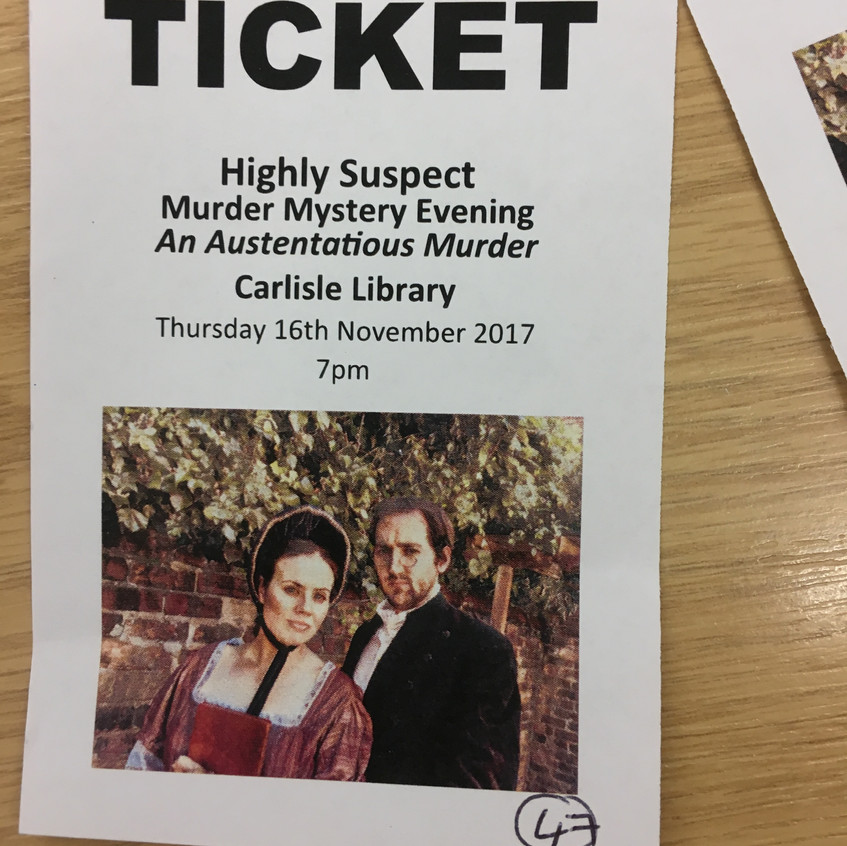 A bespoke ticket to Carlisle Library