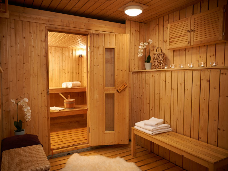 chalet couple sauna