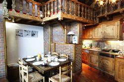 Dining-room meribel ski chalet