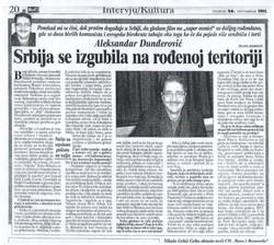 Blic interview