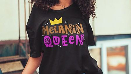 """Melanin Queen"" Graphic Tee"