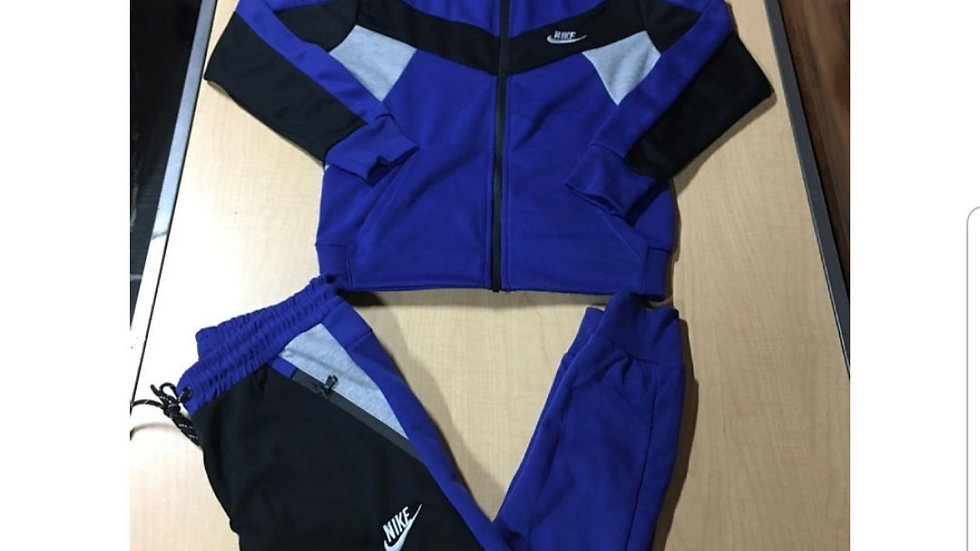 Women's Black and Blue fitted set