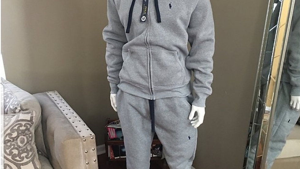 Grey Polo sweat suit