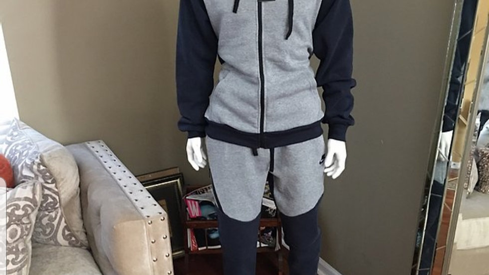 Nike Grey and Blue Sweat Set