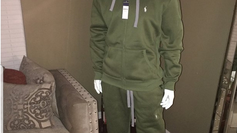 Green Polo sweat suit