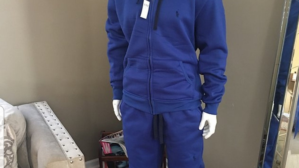 Blue Polo sweat suit