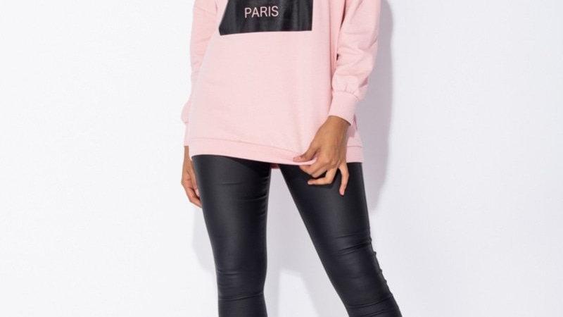 """Pink """"COCO"""" Oversized Sweatshirt"""