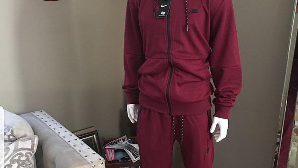 Burgundy Nike Sweat Suit
