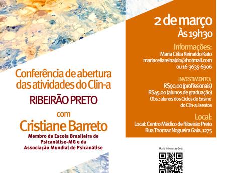 Conferência de Abertura das Atividades do Clin-a - Ribeirão Preto